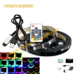 1m 5V USB background RGB Colorful Mood LED Flexible strip light with RF17 keys remote controller for tv tent cabinet DIY lighting