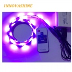 RF 10keys wireless remote control 1m 5V USB background RGB Colorful Mood LED Flexible strip light for tv tent cabinet DIY lighting